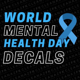 """TAG A MATE WHO MAKES AN EFFORT TO CHECK IN ON YOUR MENTAL HEALTH 💙  With October 10th being marked as World Mental Health Day, the CleanazFK team would like to remind all of our friends just how important taking care of your mental and emotional health is.  We invite you to JOIN THE MOVEMENT this week and cop some limited edition decals for an important cause!  - The """"Ribbon"""" Decal - The """"It's Not Weak To Speak"""" Decal - The """"Heartbeat"""" Decal  For the next 7 days we'll be running these #WorldMentalHealthDay decals and donating 50% of all proceeds to the Lifeline charity 🙏🏼  Today more than ever we encourage you to talk to your mates and to be kind to one another, not only in person but also online, as you never know what someone is going through. Don't forget that we are only one DM away fam!  If you need support and want to chat, call @lifelineaustralia on 13 11 14.  We hope that this reminder motivates you to take care of yourself and inspires you to check in on your family and your friends today.  #mentalhealth #worldmentalhealthday #mentalhealthawareness #mentalillness #meantalhealthmatters #mentalhealthrecovery #mentalhealthquotes #anxietysupport #depressionsupport #mentalhealthawarenessmonth #mentalhealthsupport #areyouokay #suicideprevention #suicideawareness #iamthechange #itsoknottobeok #healing #lifelineaustralia"""